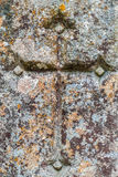 Cruz na pedra Imagem de Stock