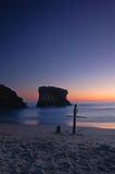 Cruz na praia foto de stock royalty free