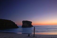 Cruz na praia fotografia de stock royalty free