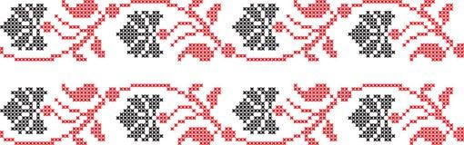 Cruz nacional ucraniana bordada do teste padrão Imagem de Stock Royalty Free