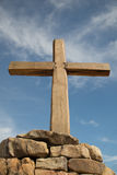 Cruz no céu Imagens de Stock