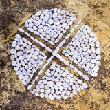 Cruz no círculo Foto de Stock Royalty Free