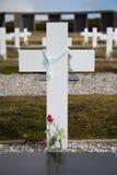 Cruz no cemitério de Argentina, Falkland Islands Fotografia de Stock