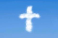 Cruz nublada Foto de archivo libre de regalías