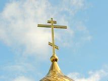 Cruz ortodoxa de Christian Church Fotos de archivo