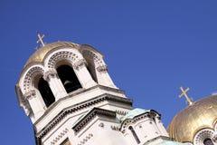 Cruz ortodoxa del oro foto de archivo libre de regalías