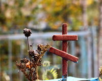Cruz oxidada do metal Fotos de Stock Royalty Free