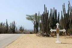 Cruz por el camino Foto de archivo
