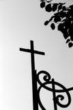 Cruz preto e branco Fotografia de Stock Royalty Free
