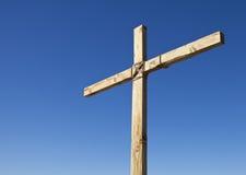 Cruz religiosa de madeira Fotografia de Stock