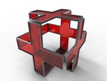 Cruz Roja aislada Fotos de archivo libres de regalías