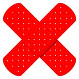 Cruz Roja Bandaids Fotografía de archivo