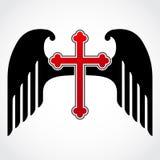 Cruz Roja coa alas Imágenes de archivo libres de regalías