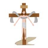 cruz sagrada del Jesucristo ilustración del vector