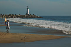 cruz santa пляжа стоковая фотография rf