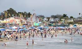 cruz santa променада пляжа Стоковое фото RF