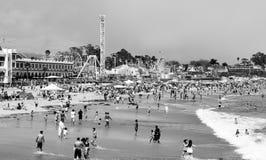 cruz santa променада пляжа Стоковые Фотографии RF
