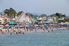 cruz santa променада пляжа Стоковое Изображение RF