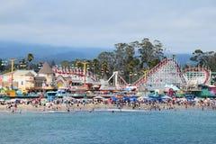 cruz santa променада пляжа Стоковая Фотография RF