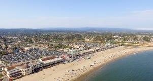cruz santa california Красивая воздушная береговая линия Стоковые Фото