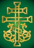 Cruz santa cristiana con el ornamento Fotos de archivo libres de regalías