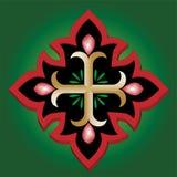 Cruz santa del ancla cristiana con sangre Imágenes de archivo libres de regalías