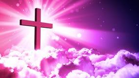 Cruz santa en cielo