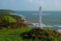 A cruz santamente. Imagem de Stock