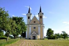 Cruz santamente da igreja da peregrinação, Áustria fotografia de stock