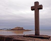 Cruz santamente em Saint Malo Foto de Stock Royalty Free