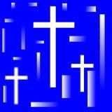 Cruz santamente nas reflexões ilustração stock