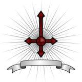 Cruz satánica Foto de archivo libre de regalías