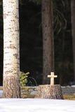 Cruz tallada Fotografía de archivo libre de regalías