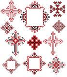 A cruz ucraniana borda ilustração do vetor