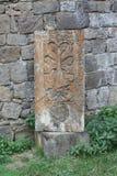 Cruz velha (khachkar) no Tatev monestry, Armênia Imagem de Stock Royalty Free