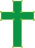Cruz verde Foto de Stock