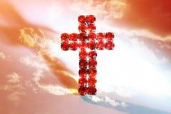 Cruz vermelha Imagem de Stock Royalty Free