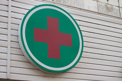 Cruz vermelha Imagem de Stock
