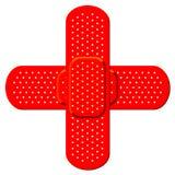 Cruz vermelha bandaid Fotos de Stock