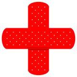 Cruz vermelha Bandaids Imagem de Stock