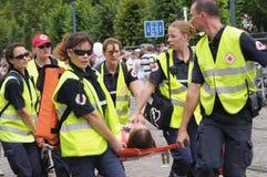 Cruz vermelha belga Imagens de Stock Royalty Free