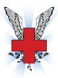 Cruz vermelha de primeiros socorros ilustração do vetor