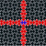 Cruz vermelha dos enigmas ilustração do vetor