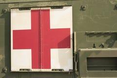 Cruz vermelha militar Fotografia de Stock Royalty Free
