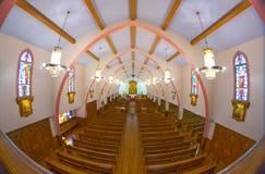 Cruz y altar religiosos católicos Fotografía de archivo