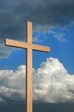 Cruz y cielo fotografía de archivo