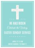 Cruz y flores Servicio Christian Church Poster Template de pascua domingo Imágenes de archivo libres de regalías