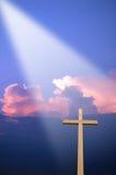 Cruz y luz imágenes de archivo libres de regalías