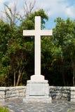 Cruz y monumento para la primera ubicación del aterrizaje de colonos ingleses fotografía de archivo libre de regalías