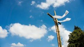 Cruz y vientos fotos de archivo